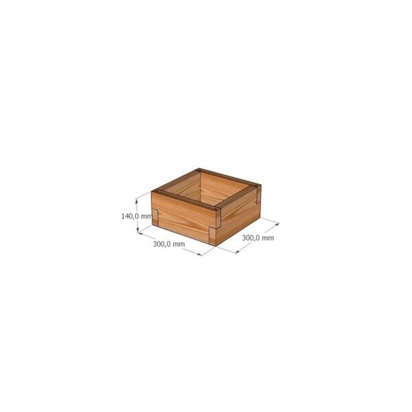 Кашпо из лиственницы / 30x30см