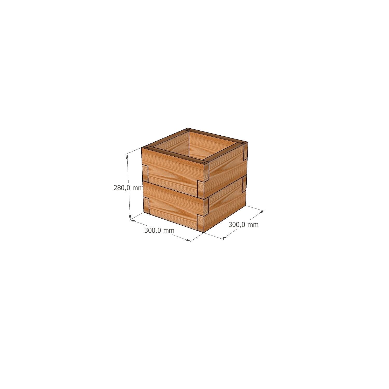 Готовая грядка крохотуля из лиственницы / 30х30х28см