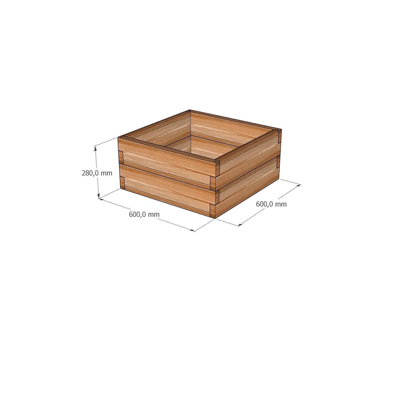 Готовая мини - грядка из лиственницы / 60х60х28см