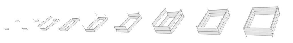 Грядка на подставке ЭкоДеко Плантер / 115х30см // Черный Натур