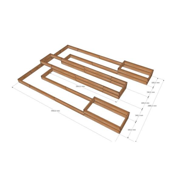 Комплект грядок для теплицы 3мx4м / Стандарт