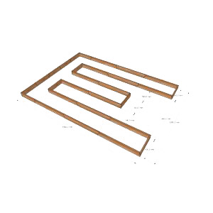 Комплект грядок для теплицы 3мx4м / База