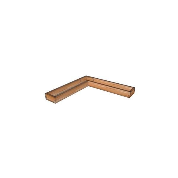 Угловое кашпо из лиственницы / 142x142см