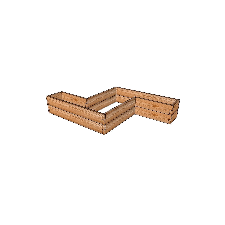 Фигурная грядка-кашпо из лиственницы / 172x102см