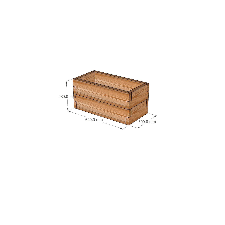 Готовая мини - грядка из лиственницы / 30х60х28см