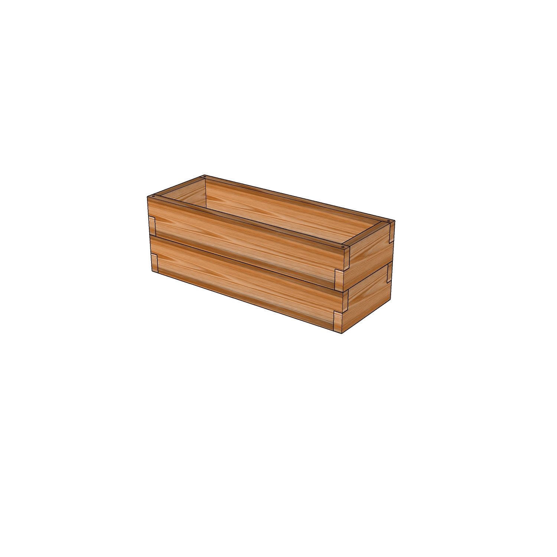 Грядка из лиственницы / 30x80см