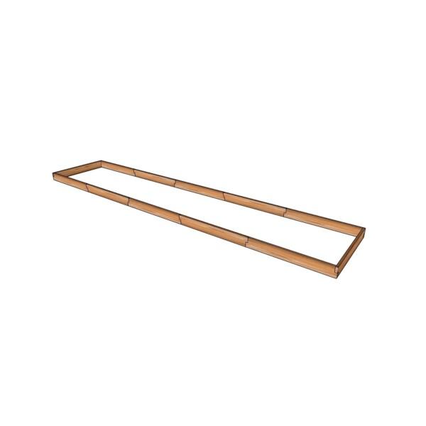 Высокая деревянная грядка из лиственницы / 560x115см
