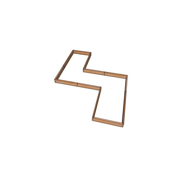 Фигурная грядка из лиственницы / 234x304см