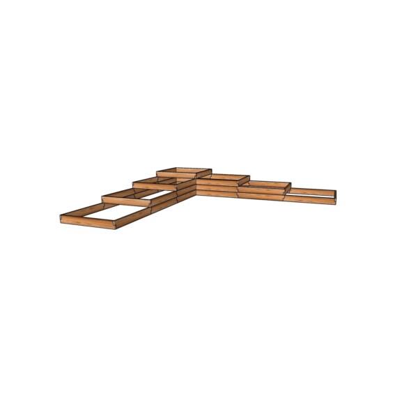 Высокая грядка из лиственницы 451x451см