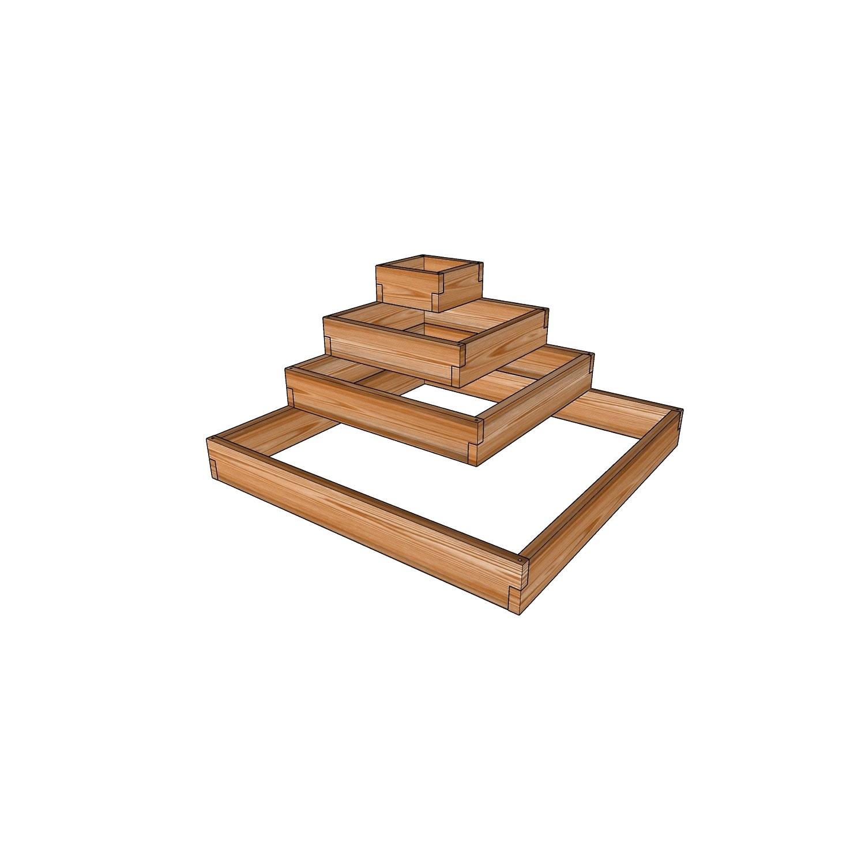 Грядка-этажерка из лиственницы / 115x115см