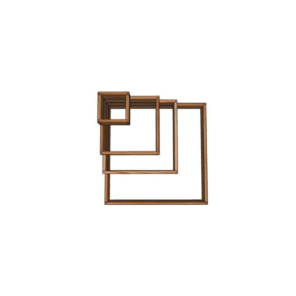 Грядка-этажерка из лиственницы 115x115см