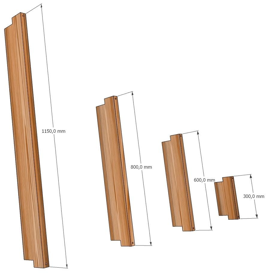 Размеры ограждений ЭкоДеко