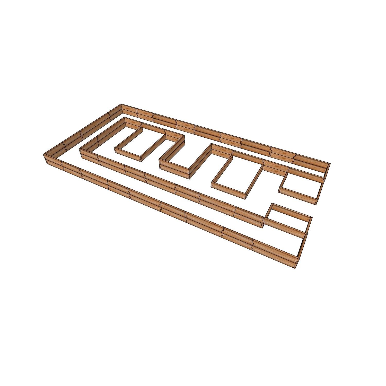 Комплект грядок для теплицы 3x6м / Стандарт