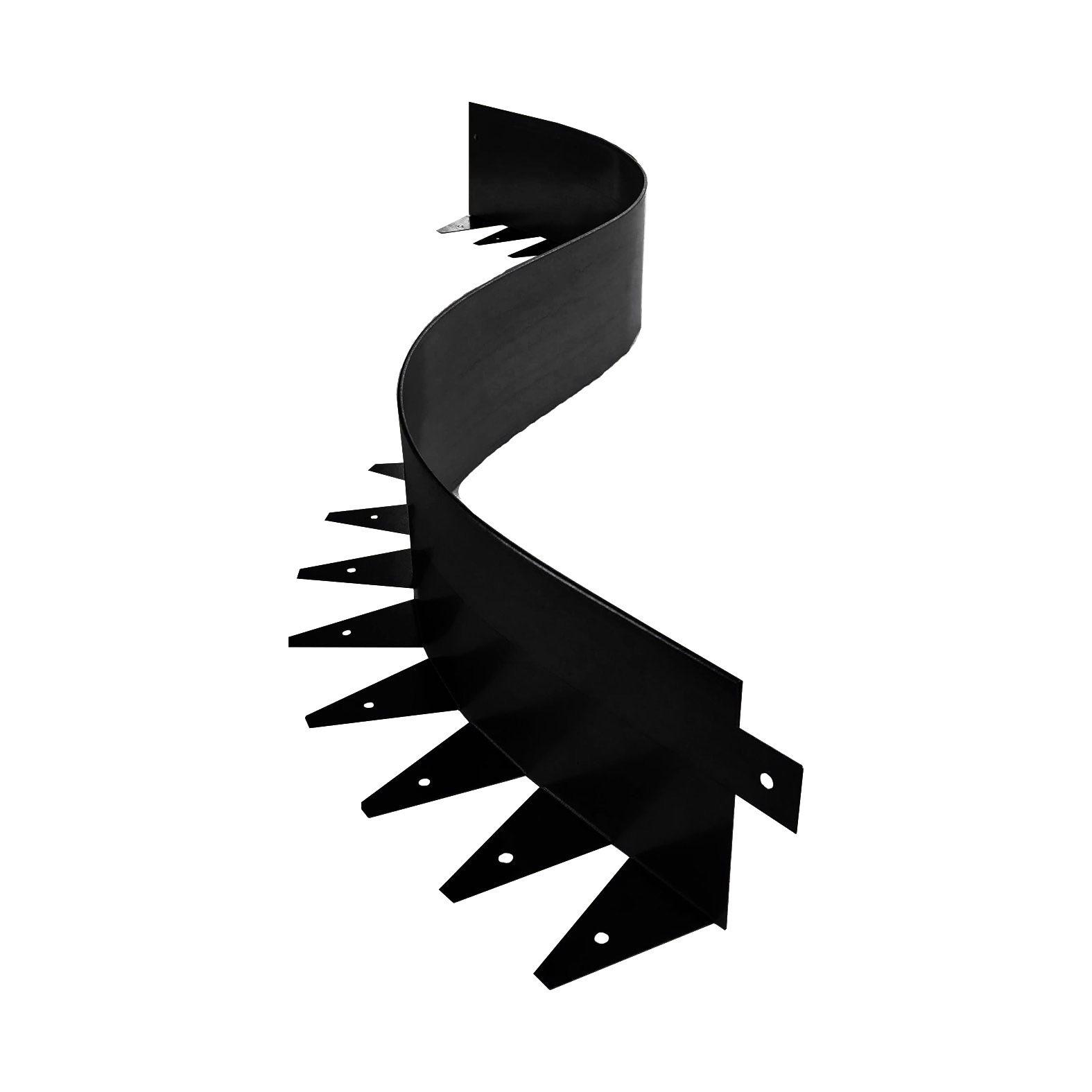 Металлический бордюр для дорожек ЭкоДеко Флекс / 100х70х1200 // Черный
