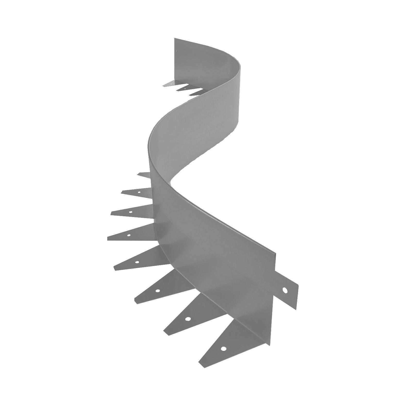Металлический бордюр для дорожек ЭкоДеко Флекс 1мм / 1200х120х70 // Цинк