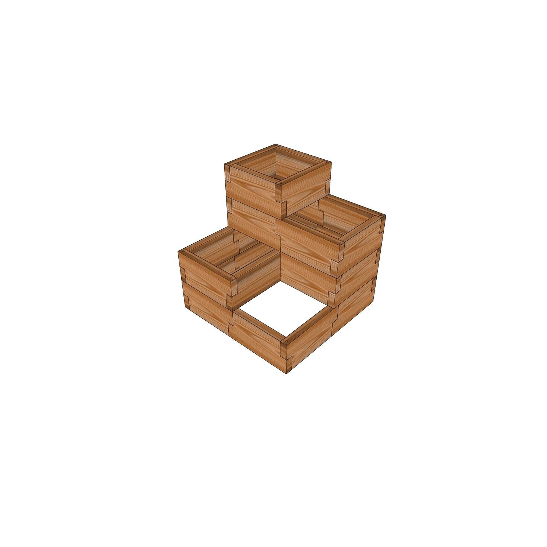 Мини - огород из лиственницы / 57x57см