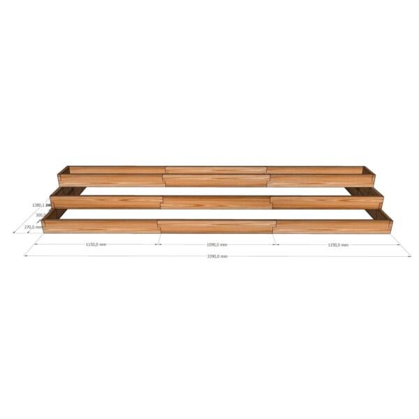 Вертикальная деревянная грядка / 339x138см