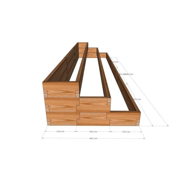 Пристенная вертикальная грядка / 339x84см