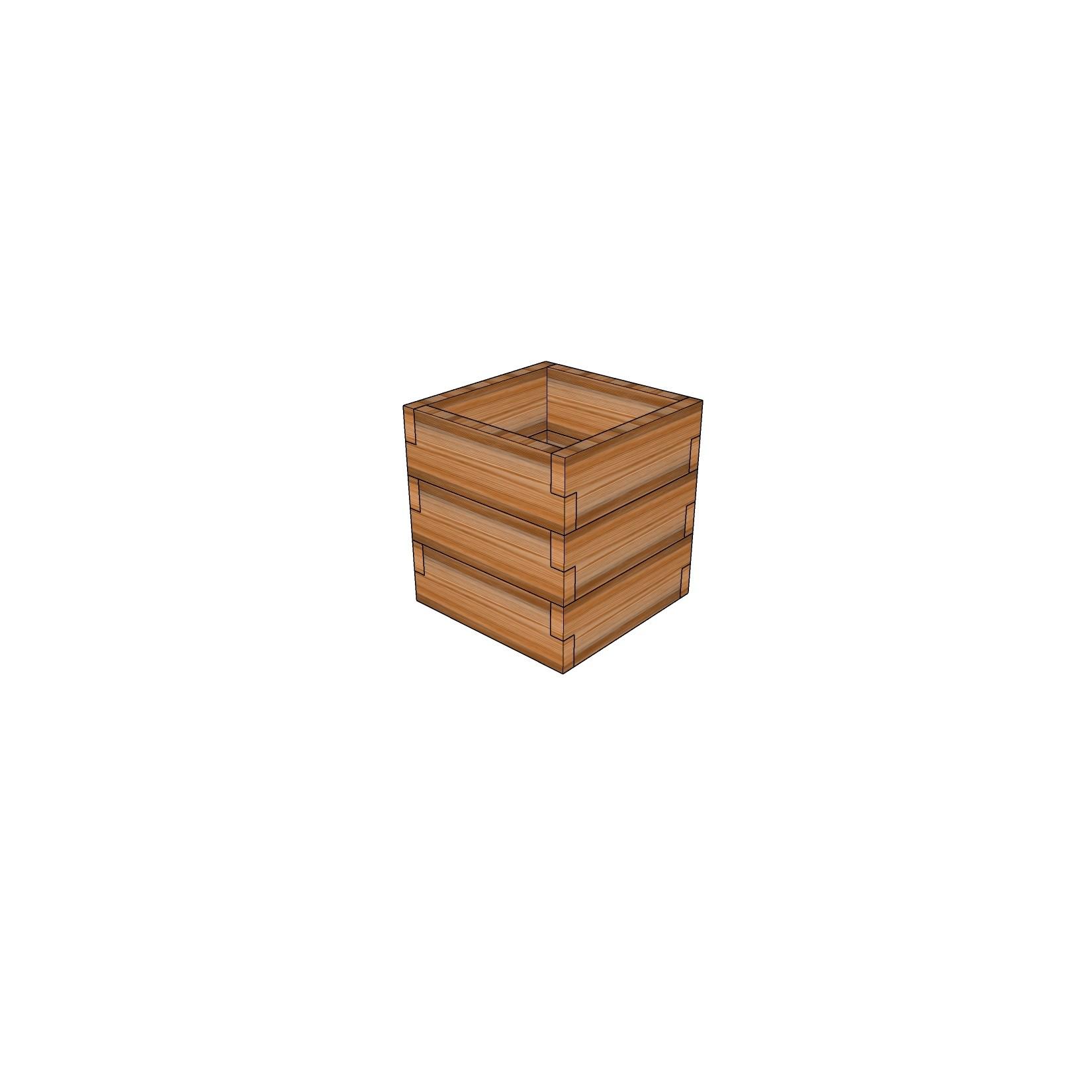 Кашпо из лиственницы / 40x40см