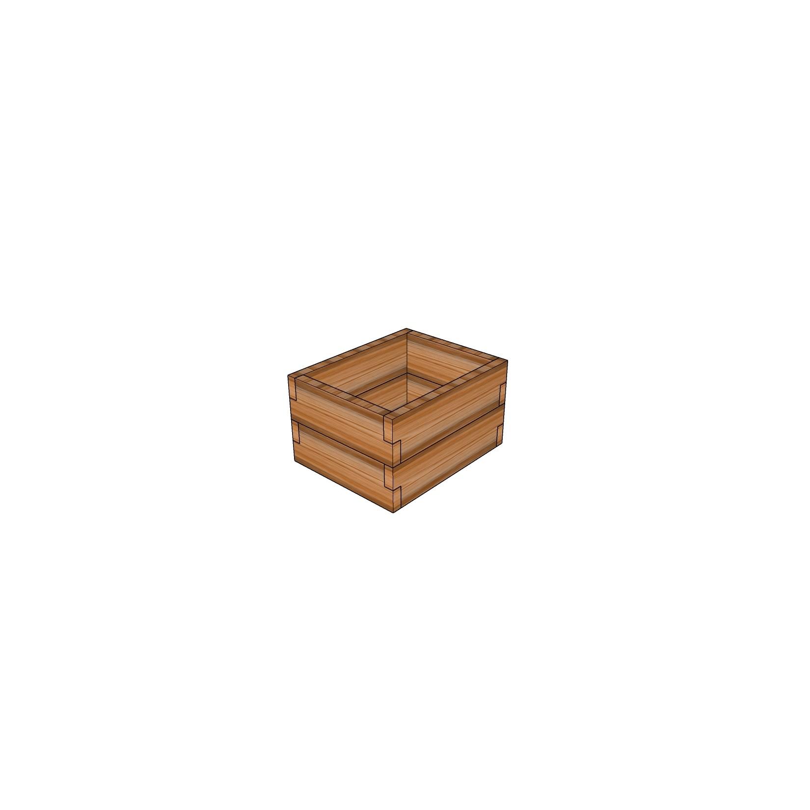 Кашпо из лиственницы / 40x50см
