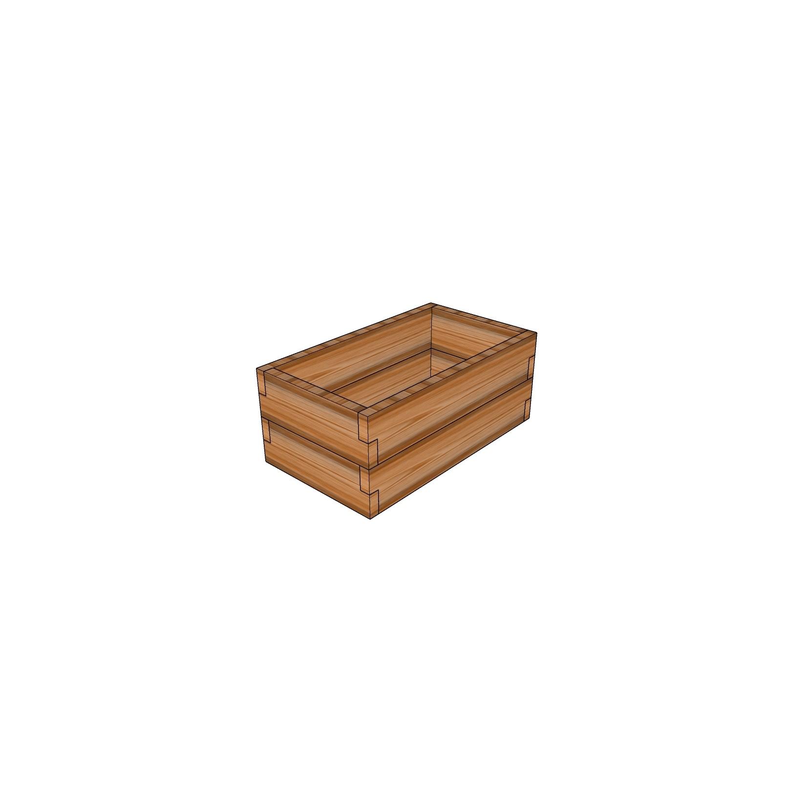Кашпо из лиственницы / 40x70см