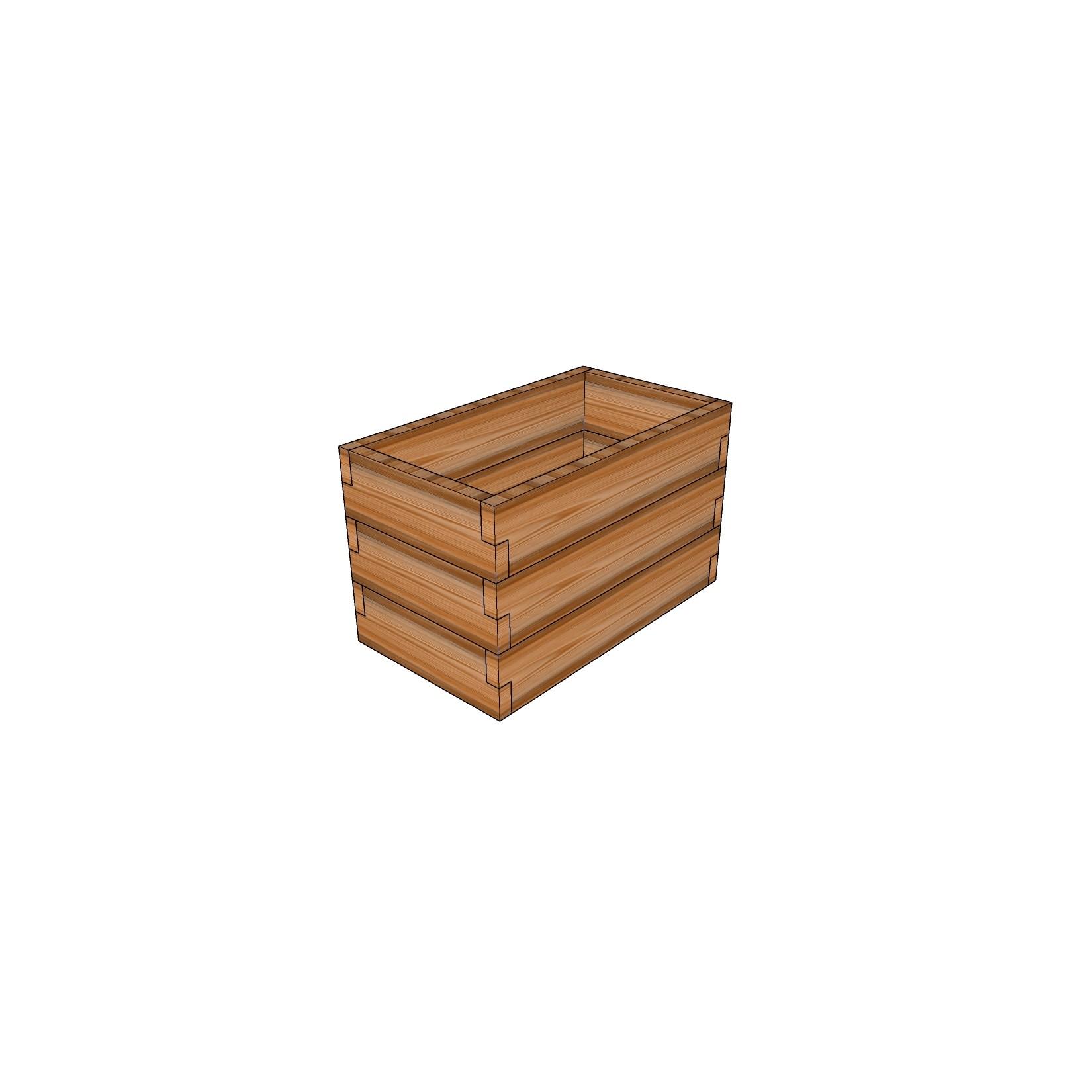 Кашпо из лиственницы / 40x60см