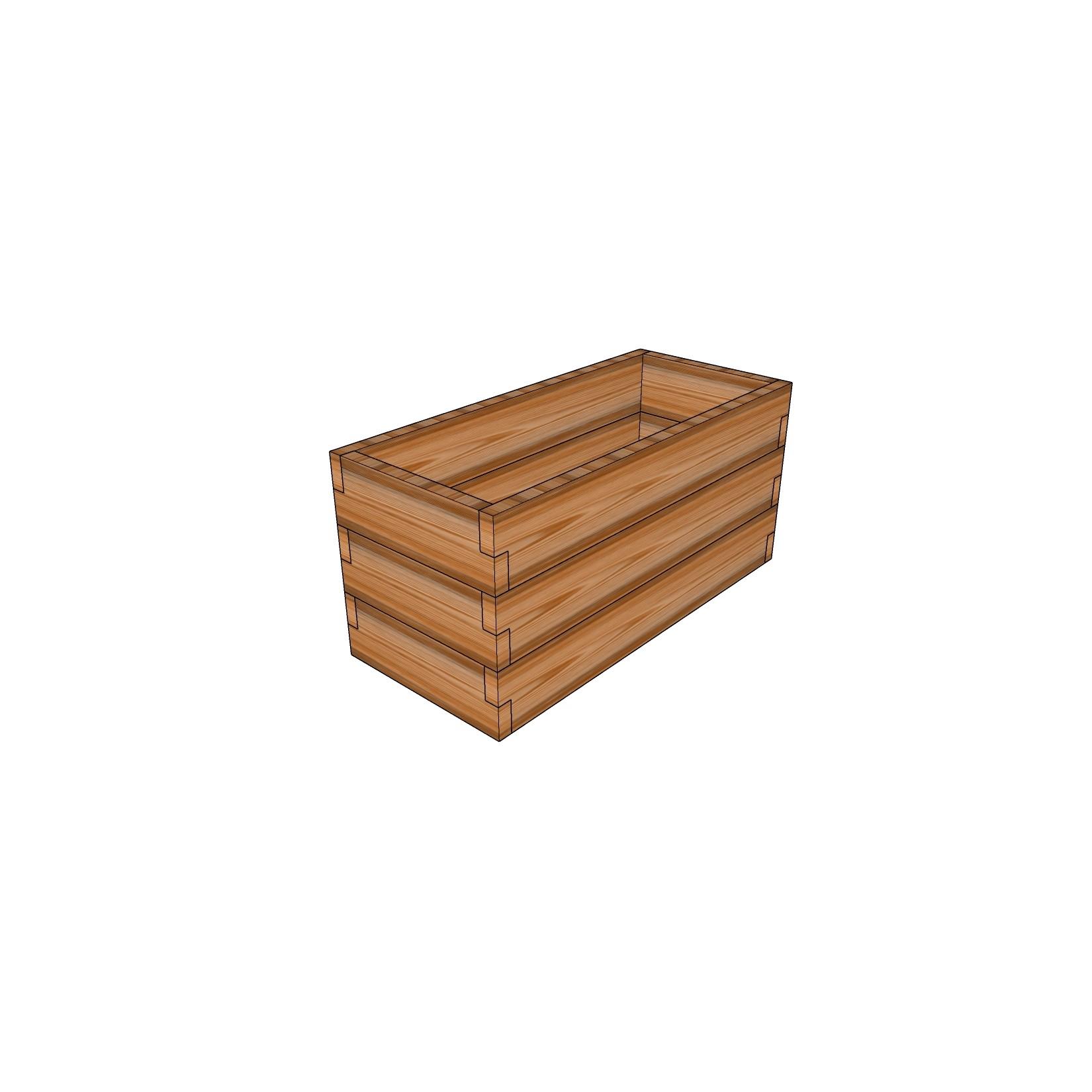 Кашпо из лиственницы / 40x90см