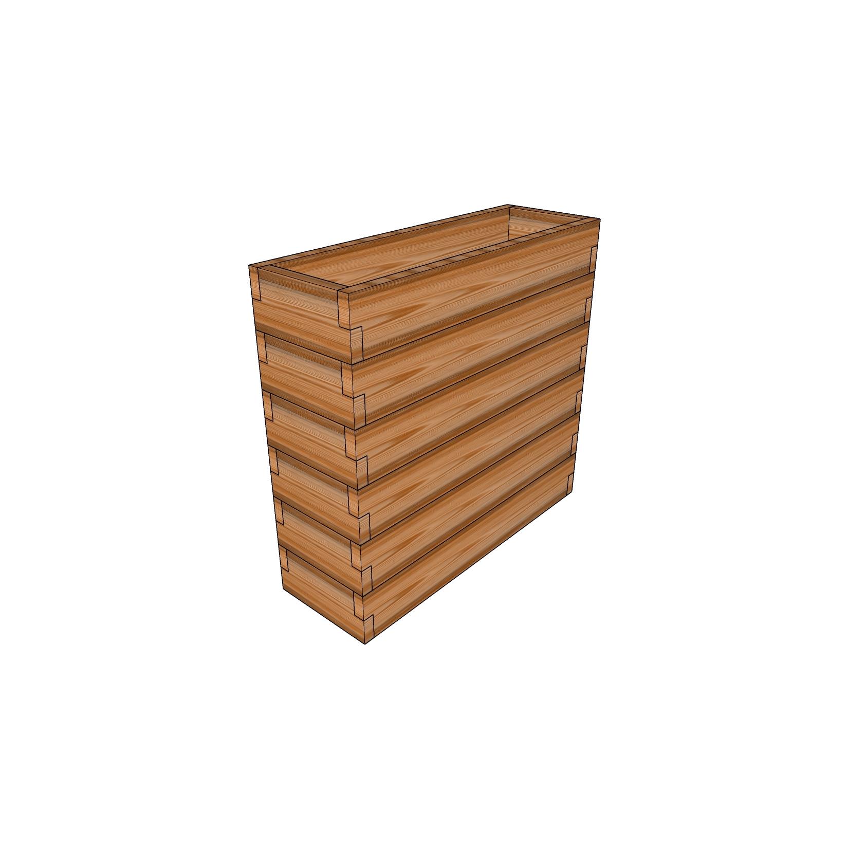 Кашпо из лиственницы / 30x90см