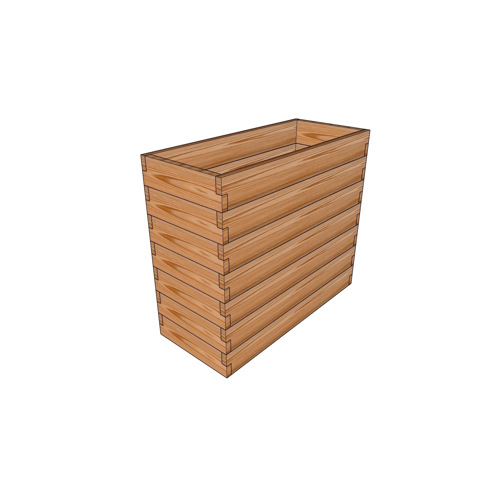 Кашпо из лиственницы / 50x115см