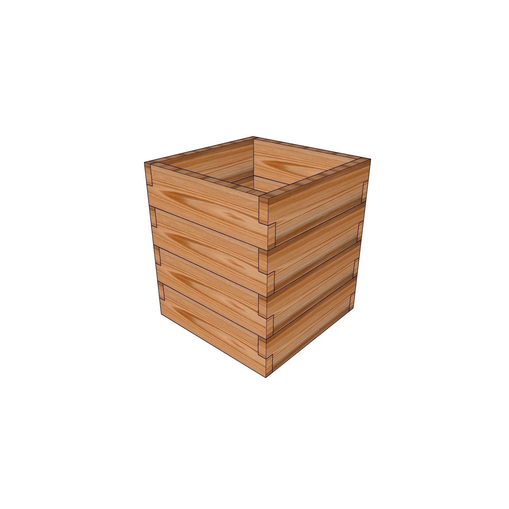 Кашпо из лиственницы / 50x50см