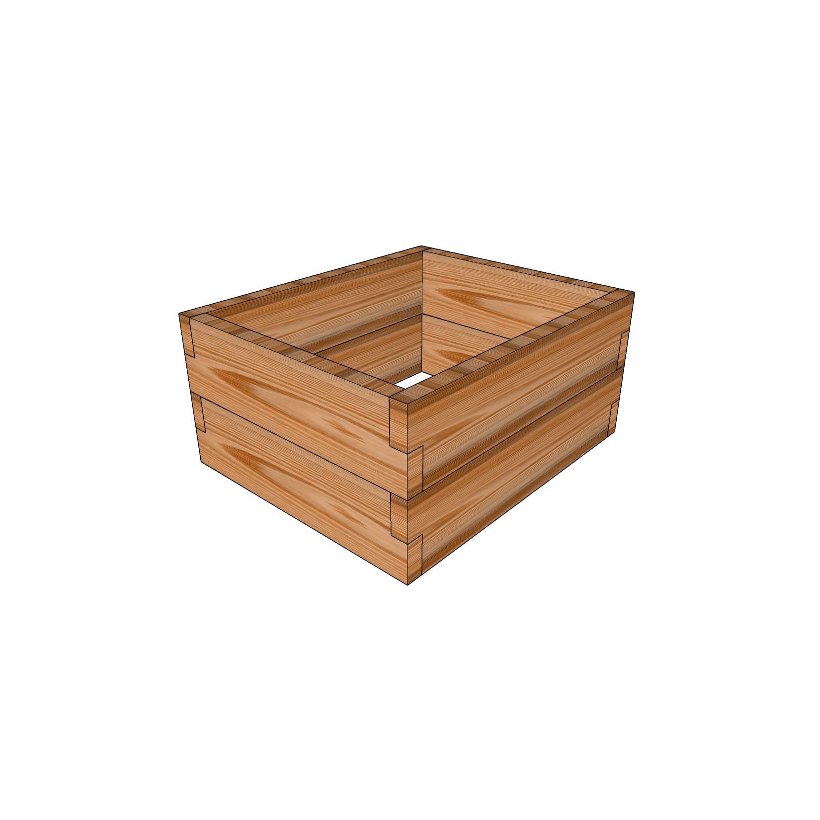 Кашпо из лиственницы / 50x60см