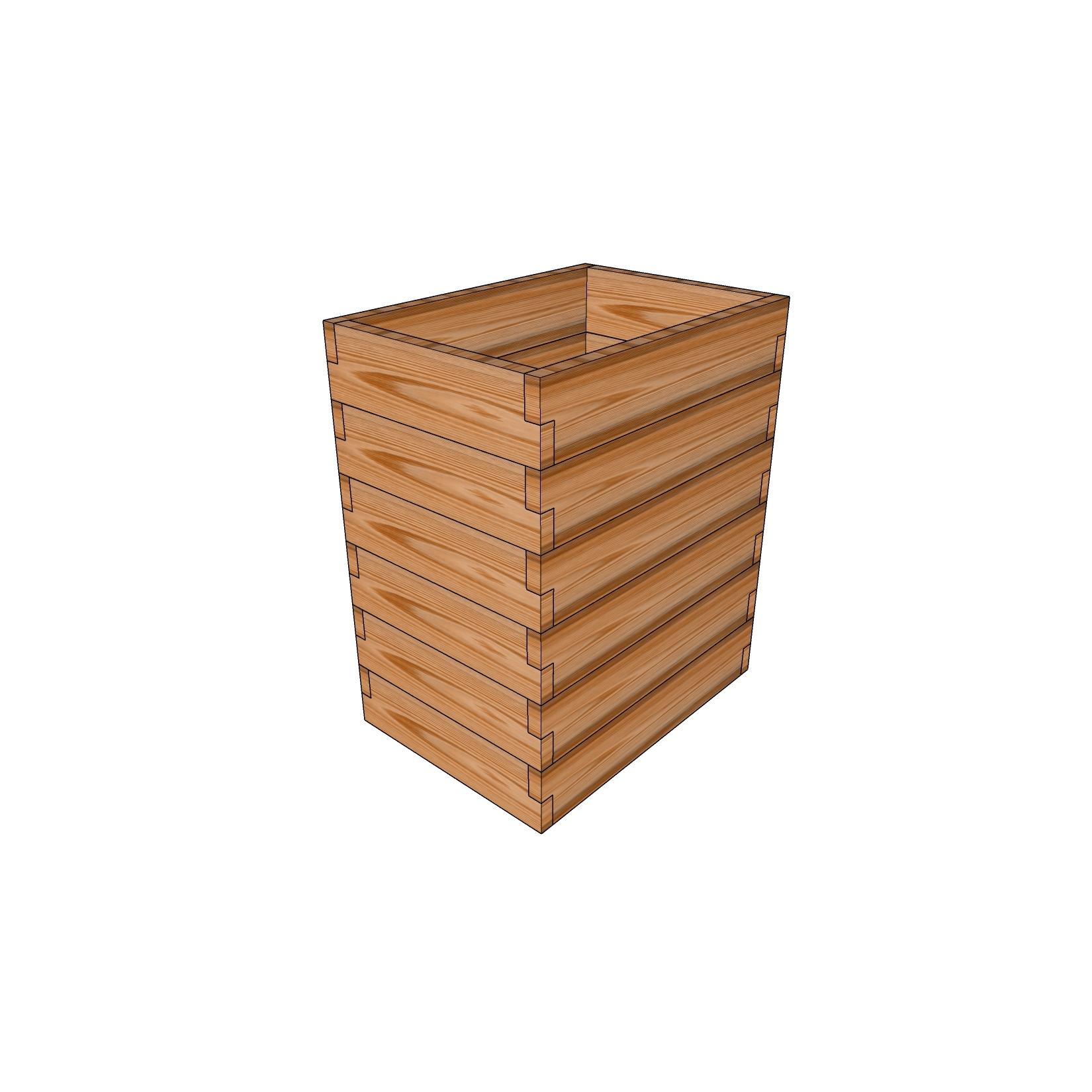 Кашпо из лиственницы / 50x70см