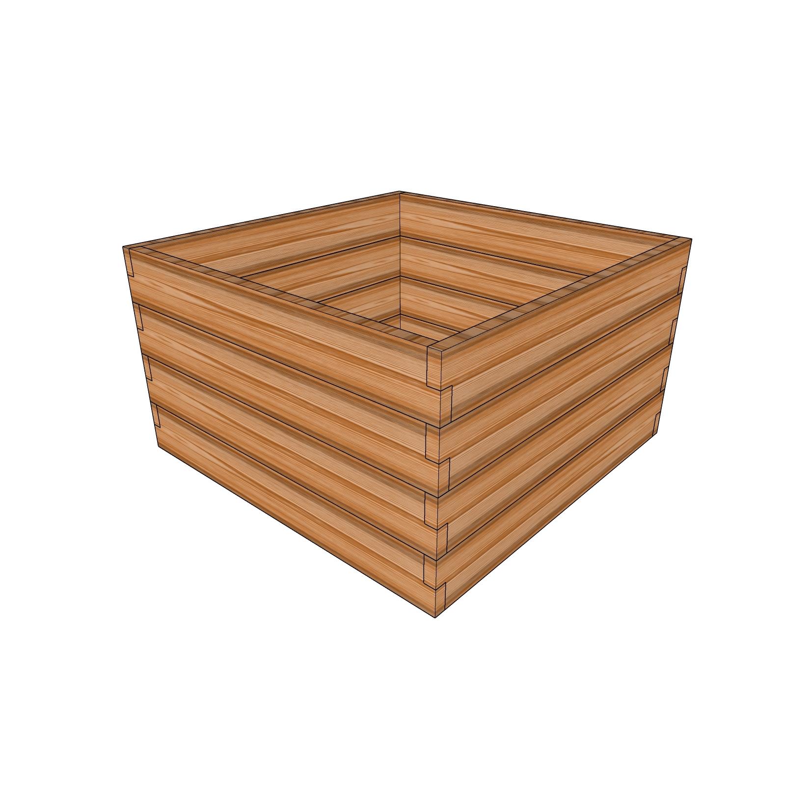 Кашпо из лиственницы / 100x100см