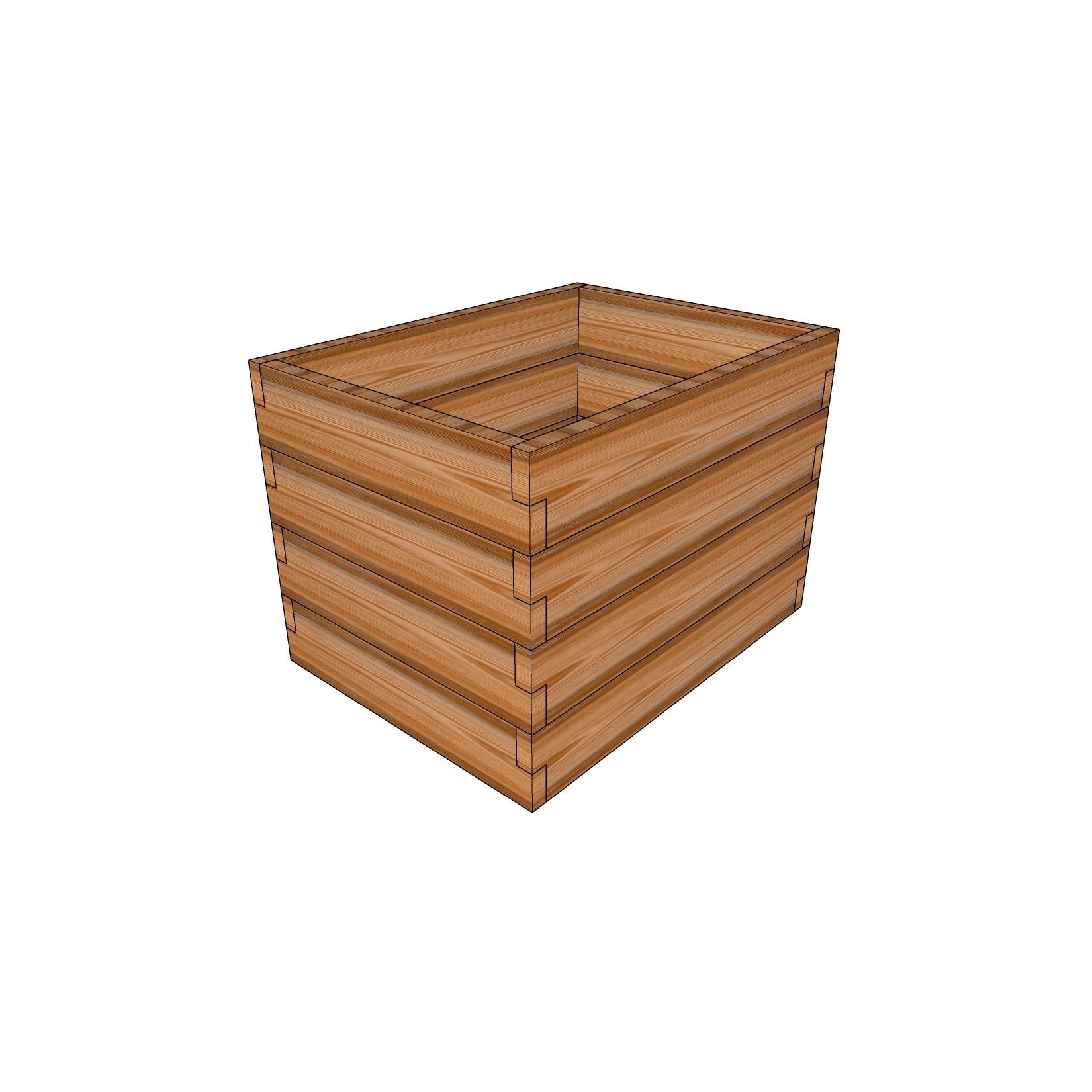 Кашпо из лиственницы / 60x80см