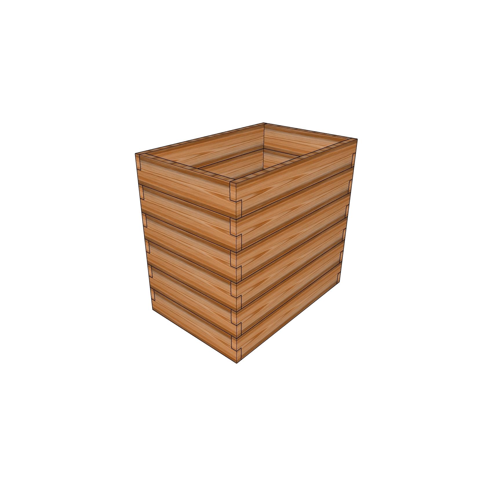 Кашпо из лиственницы / 60x90см